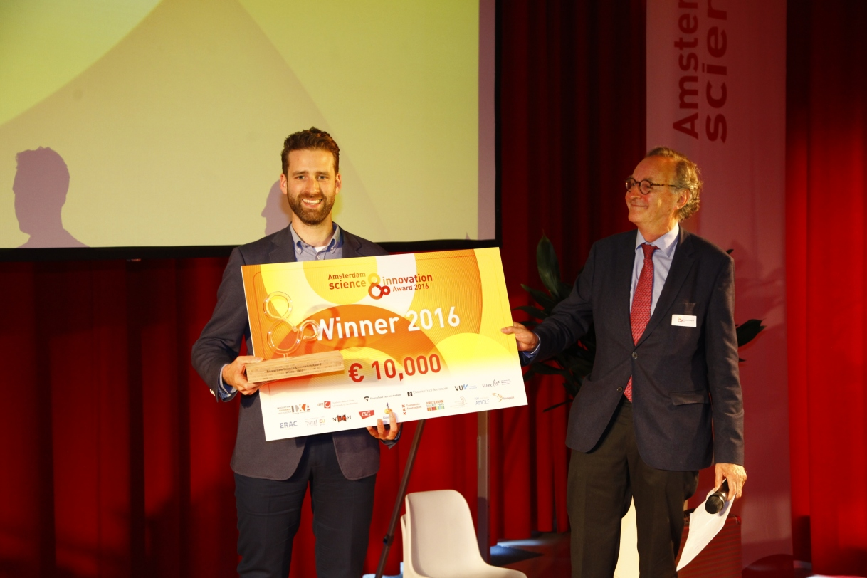 Bram Schermers wins Amsterdam Science & Innovation Award 2016